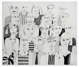 Audience by Stephen Baker, Drawing, Pencil on paper